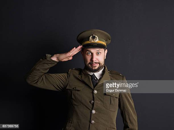 goofy general saluting - saluting stock pictures, royalty-free photos & images