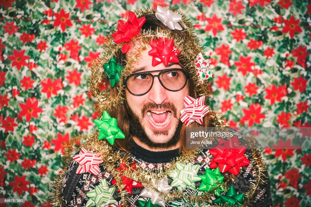Goofy Holiday Portrait : Stock Photo