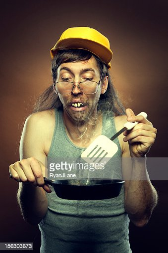 Goofy Redneck Cooking Disaster Stock Photo Getty Images