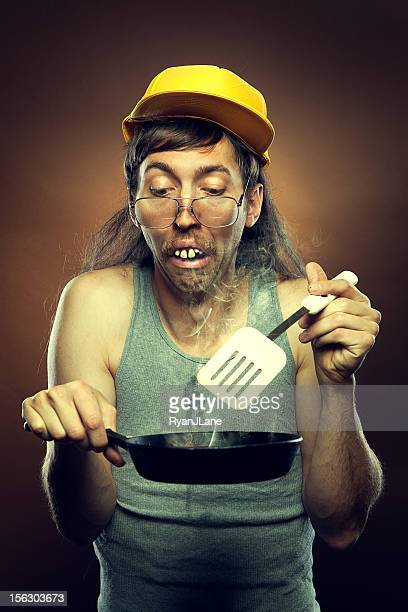 goofy redneck cooking disaster - redneck stock photos and pictures