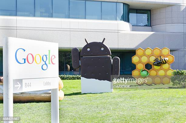 google and its android - google brand name stock pictures, royalty-free photos & images