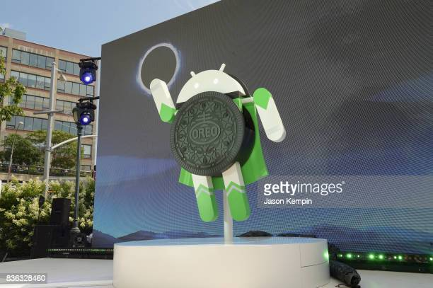 Google and Oreo reveal Android OREO during the solar eclipse at the 14th street park on August 21 2017 in New York City