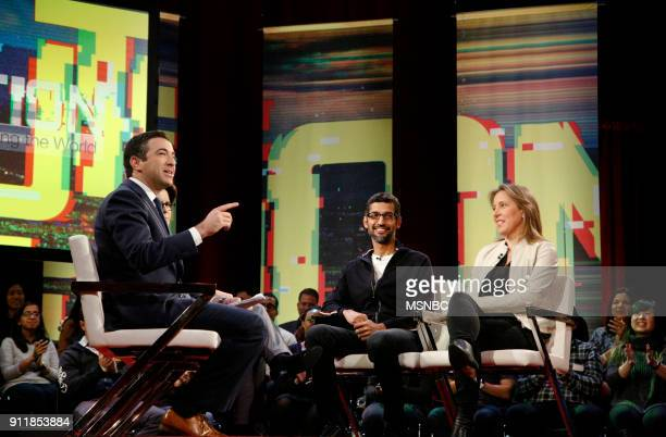 MSNBC REVOLUTION 'Google and YouTube Changing the World' Pictured Ari Melber Anchor of The Beat and MSNBC Chief Legal Correspondent Sundar Pichai CEO...