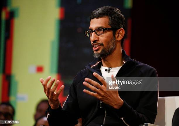MSNBC REVOLUTION 'Google and YouTube Changing the World' Pictured Sundar Pichai CEO of Google at the Yerba Buena Center for the Arts in San Francisco