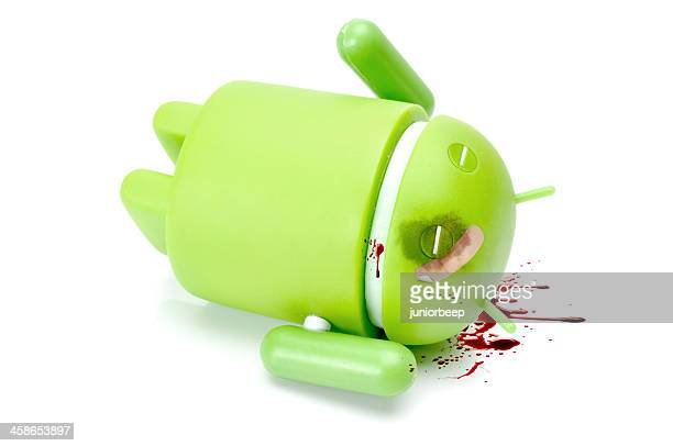 google android phone character - google stock photos and pictures