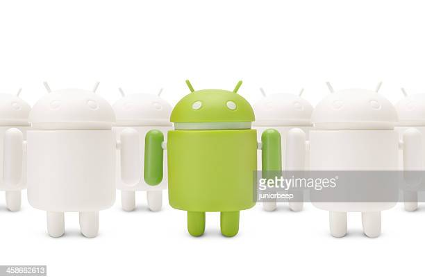 google android phone character - mobil brand name stock pictures, royalty-free photos & images