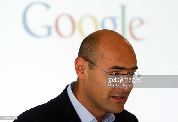 Google Australia General Manager Karim Temsamani talks during the opening of the new Sydney headquarters of internet search engine Google Australia...