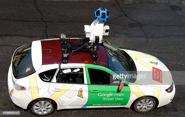 google car street view - google car stock pictures, royalty-free photos & images