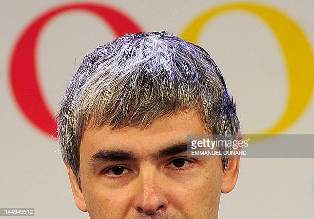 Google CEO Larry Page holds a press annoucement at Google headquarters in New York on May 21 2012 Google announced that it will allocate 22000 square...