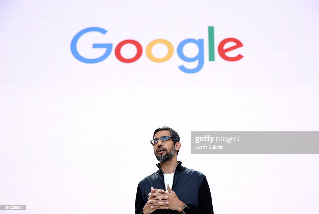 Google CEO Sundar Pichai Opens I/O Developer Conference : News Photo