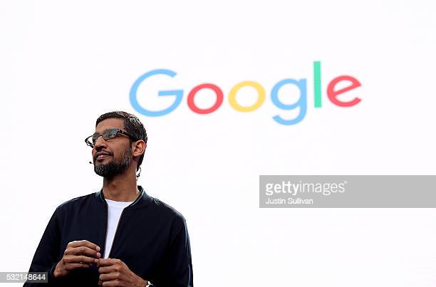 Google CEO Sundar Pichai speaks during Google I/O 2016 at Shoreline Amphitheatre on May 19 2016 in Mountain View California The annual Google I/O...
