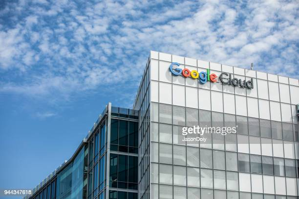 google cloud buildings in silicon valley - google stock pictures, royalty-free photos & images