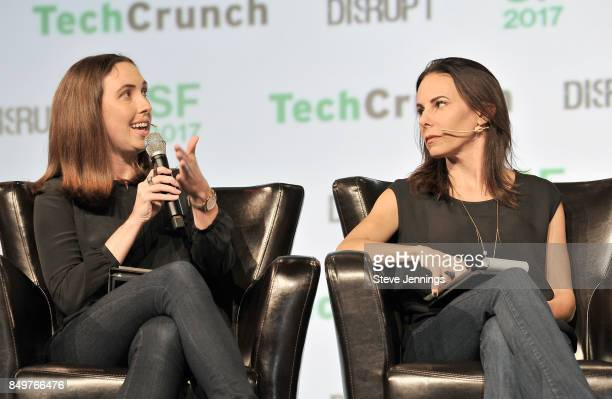 Google Cloud Head of Startup Programs Sam O'Keefe and Capital Partner Jenny Lefcourt judge the Startup Battlefield Competition during TechCrunch...