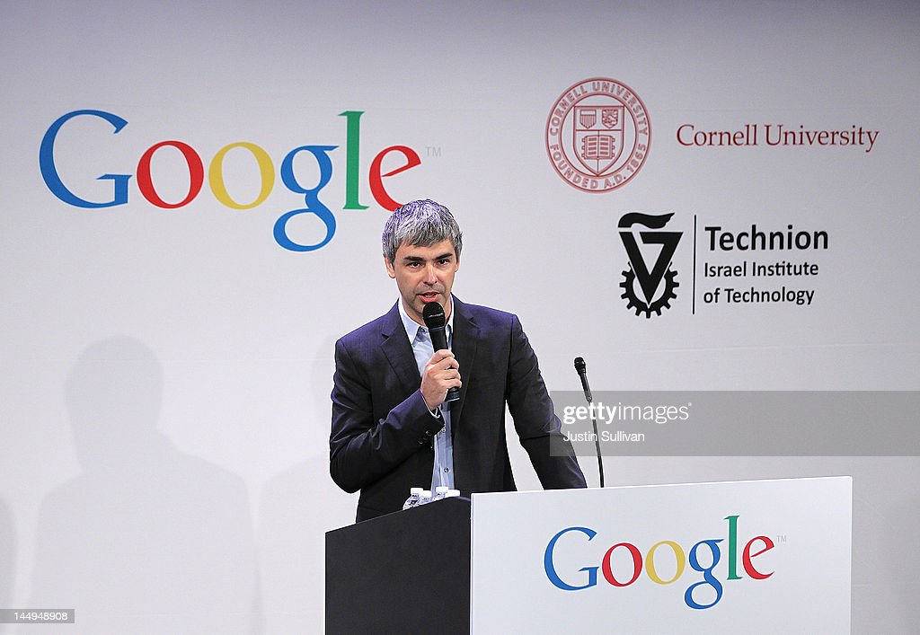 Google's Larry Page Holds Media Event In New York City : News Photo