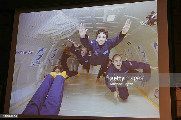 Google cofounder Sergey Brin appears in presentation at the Space Adventures announcement of Sergey Brin as orbital spaceflight investor and founding...