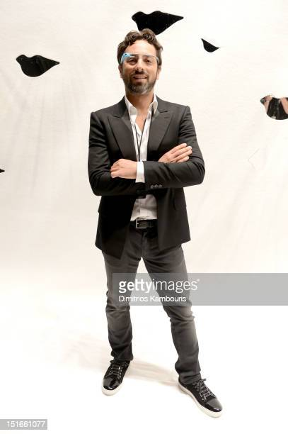 Google cofounder Sergey Brin attends the Diane Von Furstenberg Spring 2013 fashion show during MercedesBenz Fashion Week at The Theatre at Lincoln...
