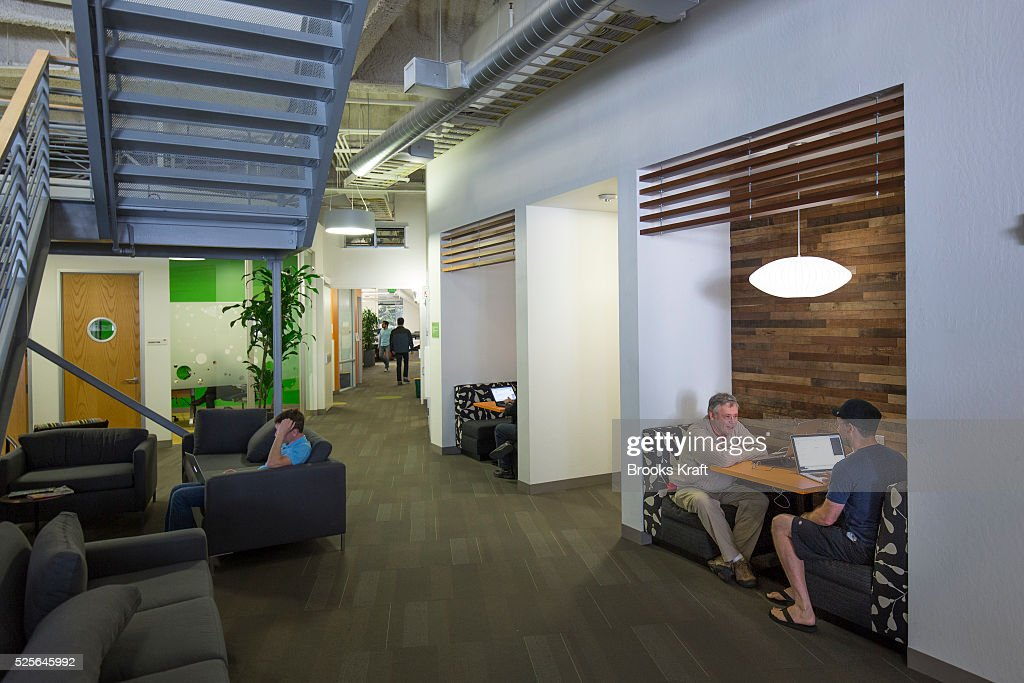 google office in usa. Google Employees At Work Inside An Office Building The Googleplex Corporate Headquarters Complex Of In Usa