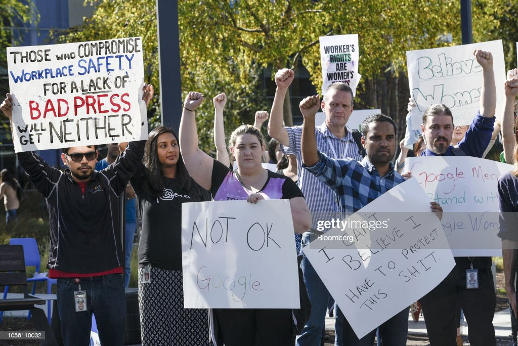 Google Staff Walkout To Protest Sexual Misconduct : News Photo
