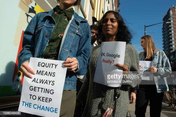 Google employees stage a walkout on November 1 in New York over sexual harassment A Google Walkout For Real Change account that sprang up on Twitter...