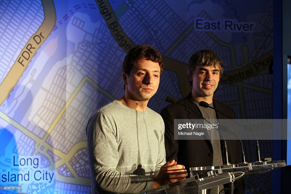 Google Founders Launch Google Transit Tool For NYC : News Photo