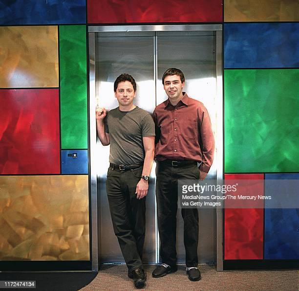 OUTLOOK ** Google founders Sergey Brin left and Larry Page right are shown at the companies headquarters in Mountaint View Calif Thursday March 13...