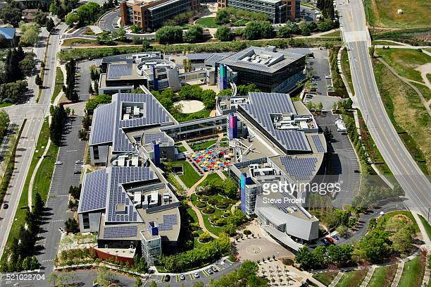 google headquarters - silicon valley stock pictures, royalty-free photos & images