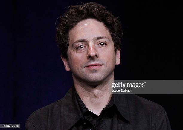 Google Inc. Co-founder Sergey Brin looks on during a question and answer session following the launch of the new Google Instant during a special...
