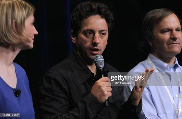 Google Inc cofounder Sergey Brin speaks during a question and answer session following the launch of the new Google Instant during a special launch...