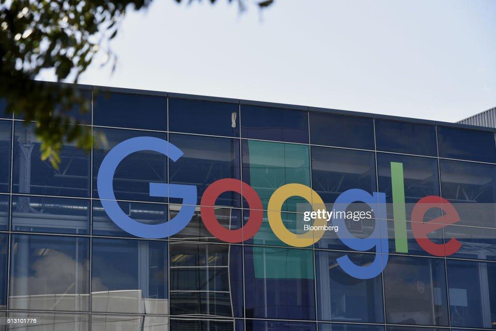 Views Of The Googleplex Campus As Google Inc. Brings Ultra-Fast Internet Access To San Francisco : News Photo