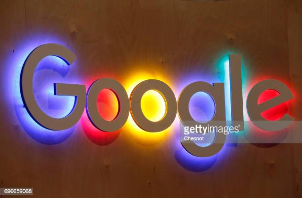 Google logo is displayed during the Viva Technology show on June 16 2017 in Paris France Viva Technology the new international event brings together...