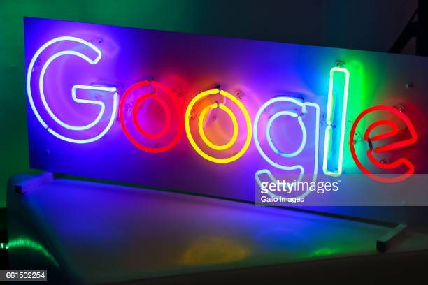 Google logo seen during the CEE Innovator Summit on March 28 2017 in Warsaw Poland During the meeting the heads of the governments of the Visegrad...