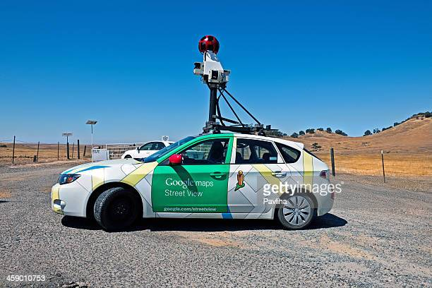 google maps street view car, mariposa california usa - google car stock pictures, royalty-free photos & images