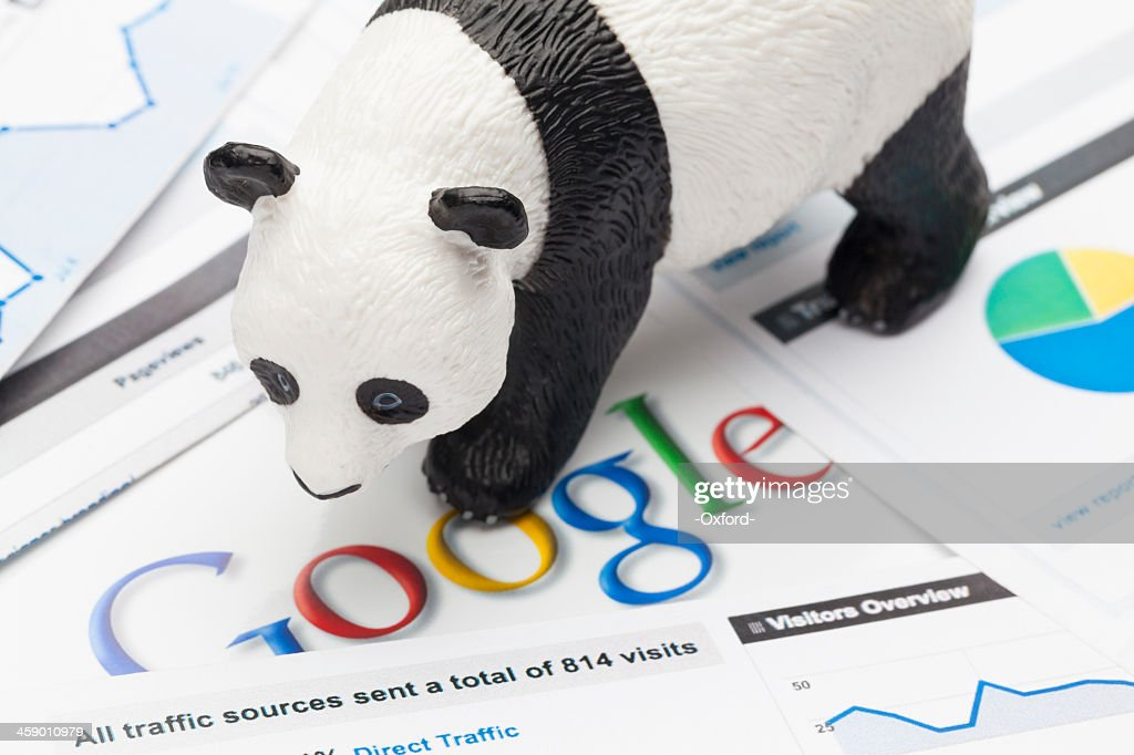 Google Panda and Penguin : Stock Photo