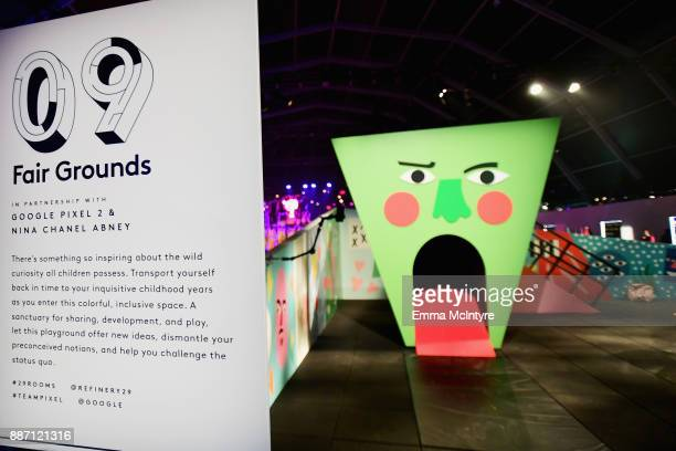 Google Pixel 2 and Nina Chanel Abney's Fair Grounds on display at Refinery29's '29Rooms Los Angeles Turn It Into Art' on December 6 2017 in Los...