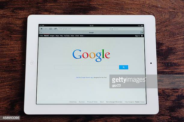 Google seach on an iPad