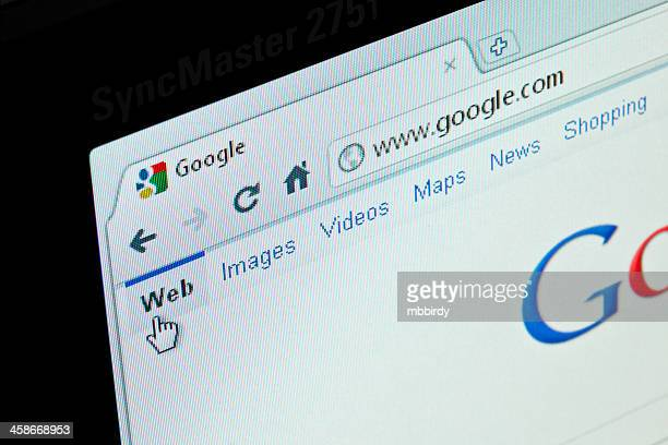 google search web site in googlechrome browser - google stock pictures, royalty-free photos & images