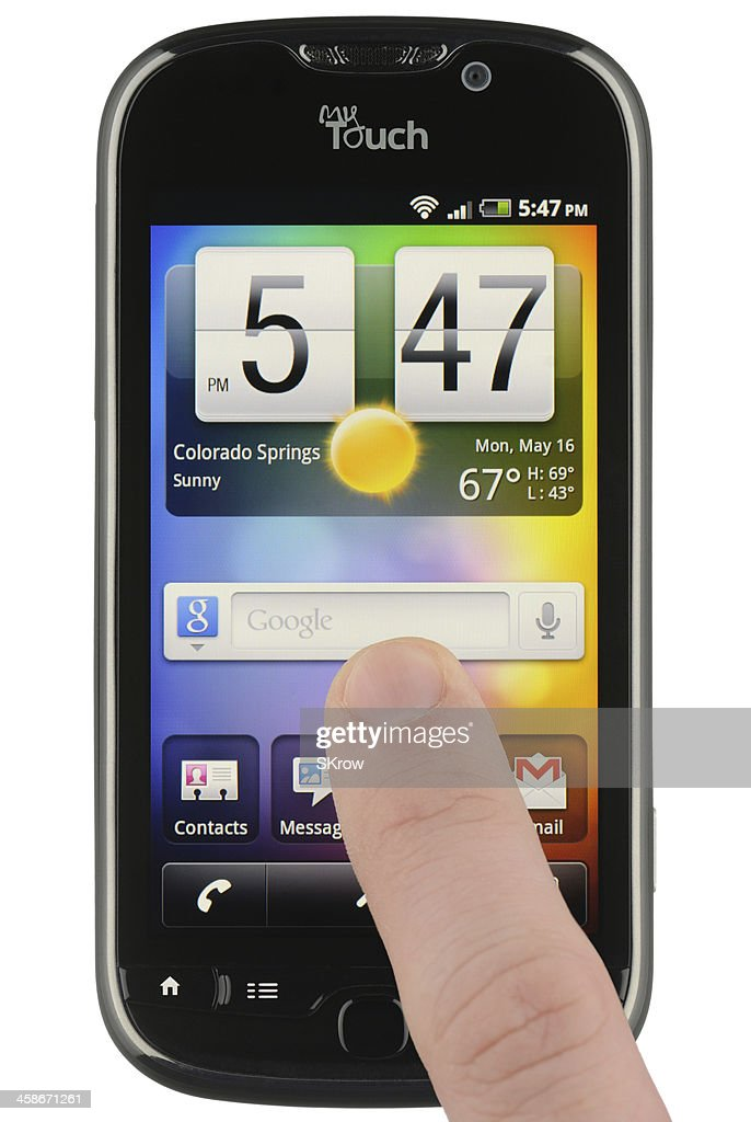 Google Search Widget On An Android Phone Stock Photo Getty