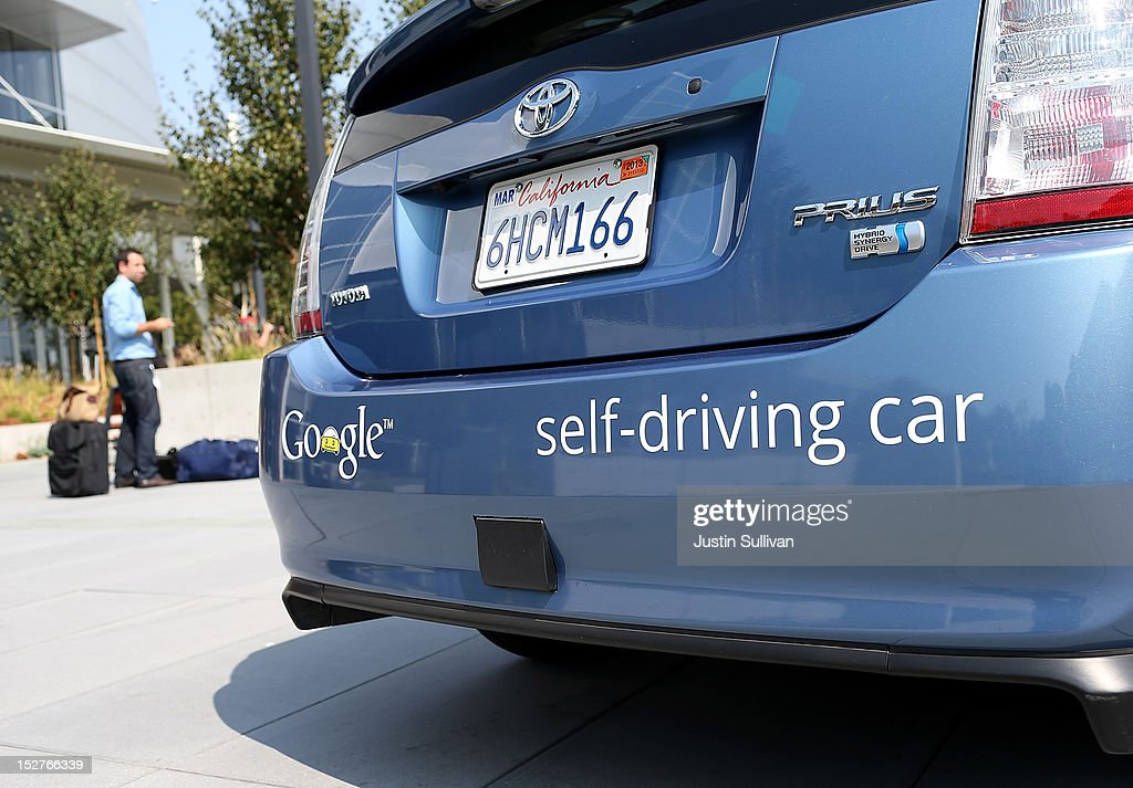 Gov. Brown Signs Legislation At Google HQ That Allows Testing Of Autonomous Vehicles : News Photo