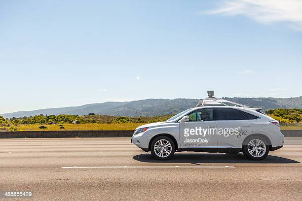 Google self-driving car on California Highway 280