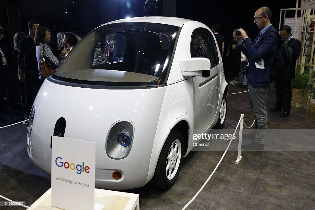 A Google self-driving car project is displayed during the Viva