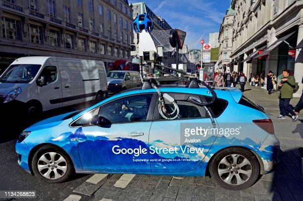 Google Street View camera car in Regent Street, London, England, UK.