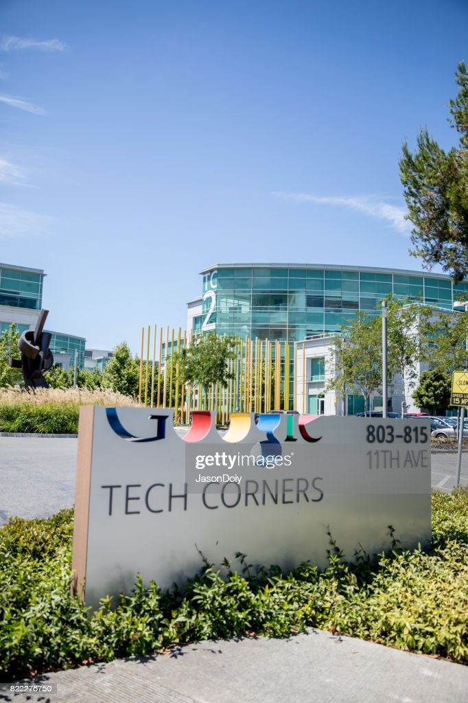 Google Tech Corners in Sunnyvale : Stock Photo