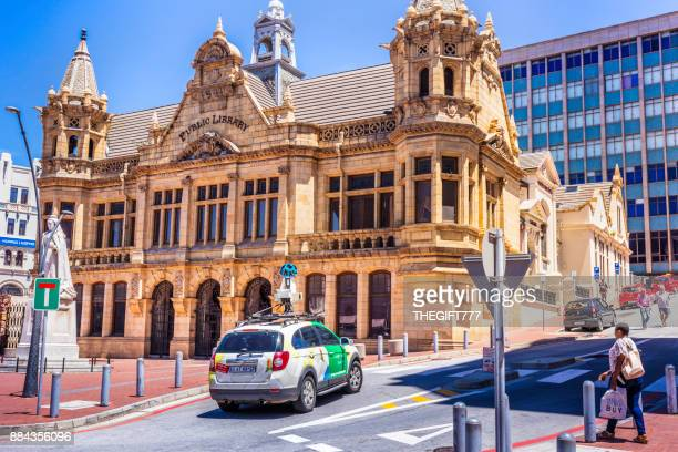 google vehicle touring the city of port elizabeth - port elizabeth south africa stock pictures, royalty-free photos & images