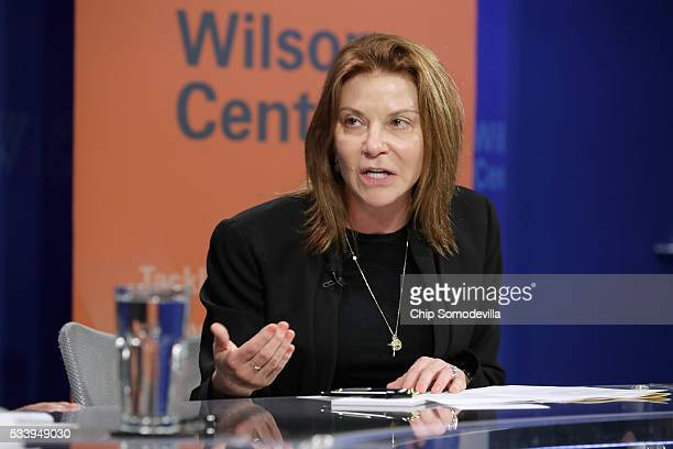 Google Vice President of Public Policy Susan Molinari participates in a discussion on 'Zika in the US Can We Manage the Risk' at the Woodrow Wilson...