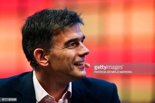 Google's EMEA business and operations president Matt Brittin gives an interview during the 2017 Web Summit in Lisbon on November 9 2017 Europe's...