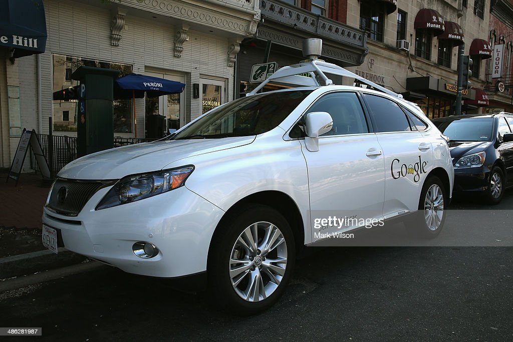 Googles Lexus RX 450H Self Driving Car is seen parked on Pennsylvania Ave. on April 23, 2014 in Washington, DC. Google has logged over 300,000 miles testing its self driving cars around the country.