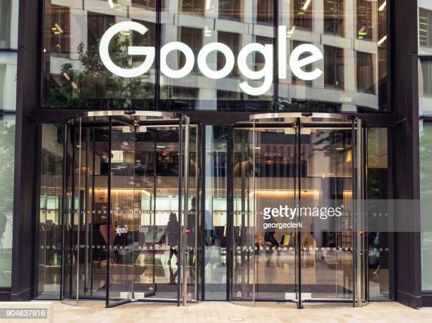 google's london hq in king's cross - google stock photos and pictures
