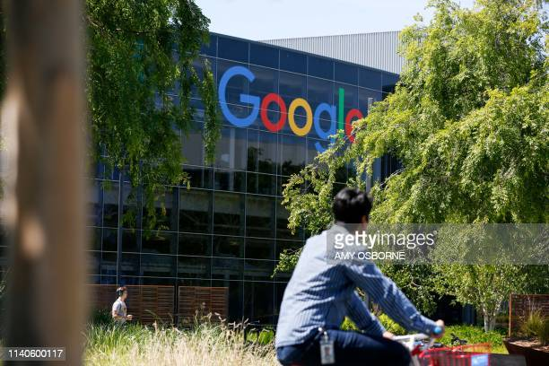 Google's main campus is seen as a sit-in to protest against Google's retaliation against workers takes place within Google's main cafeteria in...