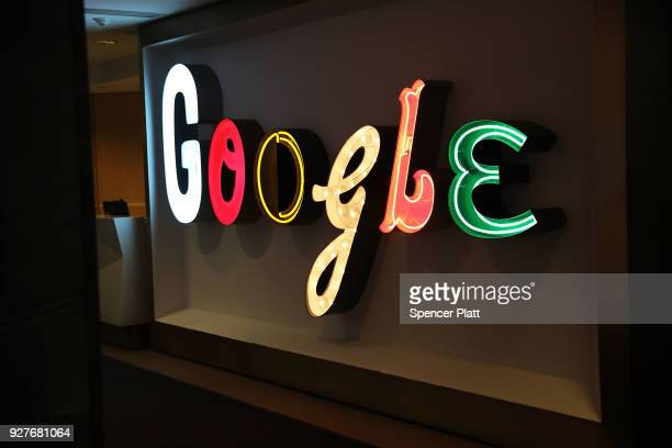 Google's New York office is shown in lower Manhattan on March 5 2018 in New York City Published reports say that the tech giant is close to a...