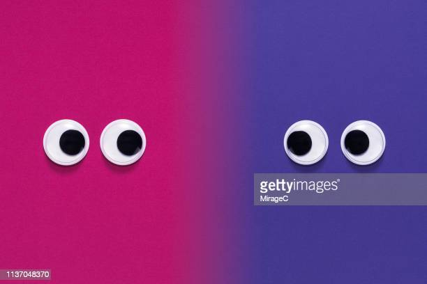 googly eyes face to face - googly eyes stock pictures, royalty-free photos & images